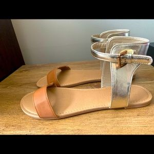 Gold and Nuetral sandals